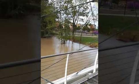VIDEO Il fiume Serio alla passerella ciclo pedonale Bettinelli